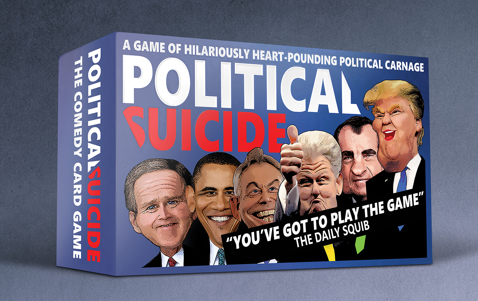 Political Suicide Card Game Box