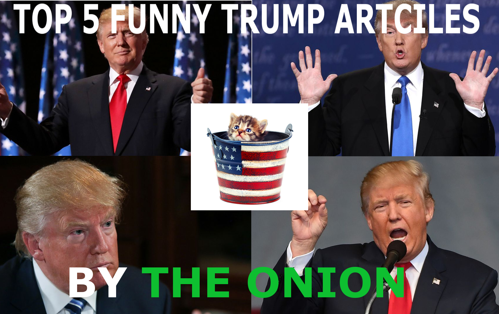 Top 5 Funny Donald Trump Articles By The Onion